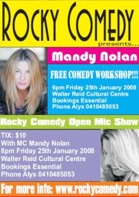 Mandy Nolan Comedy Workshop + Open Mic – 25th January 2008 – ROCKHAMPTON