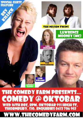 Comedy @ Oktobar 16th December 2009 – MELBOURNE