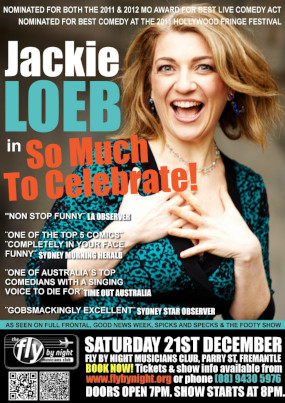 Jackie Loeb – So Much To Celebrate – December 2012 – PERTH
