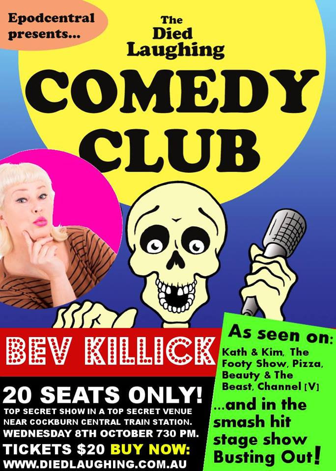 Bev Killick @ The Died Laughing Comedy Club – 8th October 2014 – PERTH