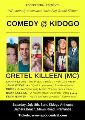 Comedy @ Kidogo – 8th July, 8pm. Kidogo Arthouse – FREMANTLE